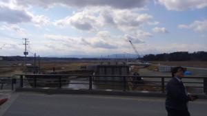 井田川干拓の水門。