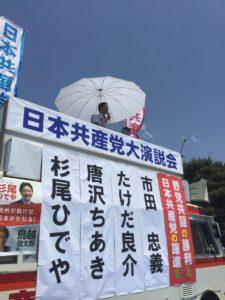 松本城で訴える私