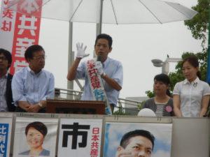 各社の予想では、日本共産党が伸び悩むなんて書いてますが、まだ投票先を決めていない方も多い。あと2日間の奮闘で、日本共産党を伸ばす!