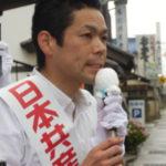 最終日は、生まれ故郷の長野県中野市から、須坂市、飯綱町、長野市と訴えました